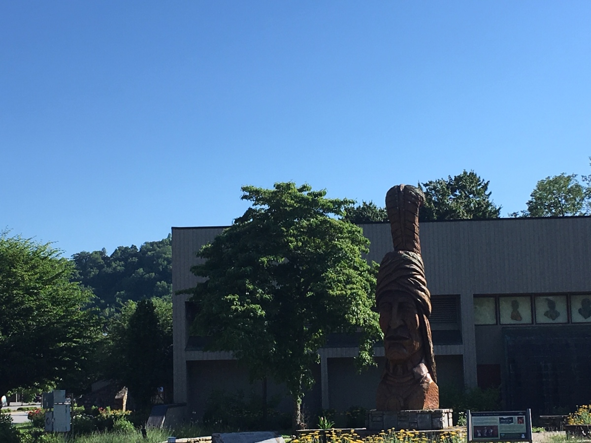 Outside view of the Museum of the Cherokee