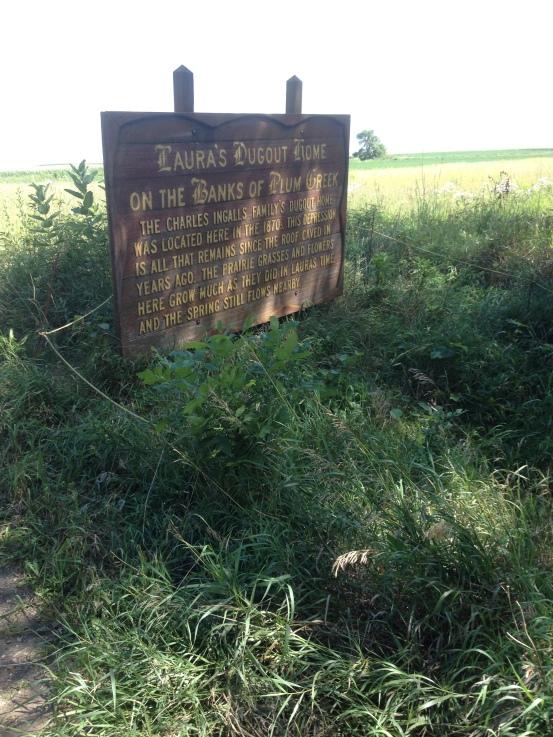 Ingalls's dugout on Plum Creek